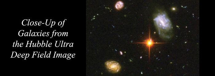 Image credit: NASA, ESA, S. Beckwith (STScI) and the HUDF Team.